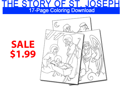 Holy heroes catholic books audio cds dvds and free for St joseph coloring page