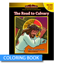 Stations of the Cross coloring book for children